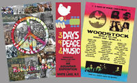 Woodstock 1969 Music Festival Commemorative Poster Set (3 Classic Reprints)