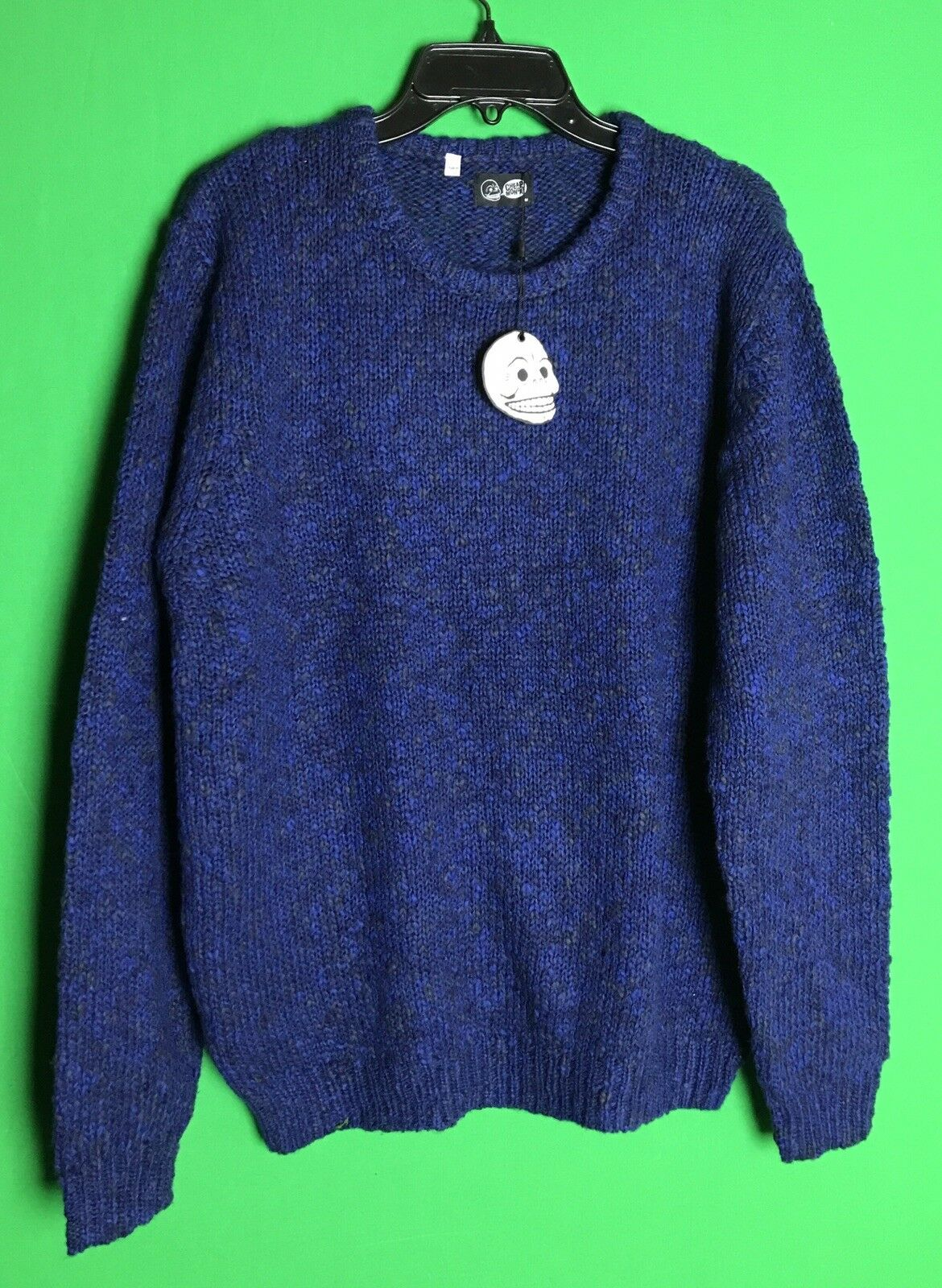 Cheap Monday Juniors Tweed Knit Sweater Dark bluee Melange Size Medium. NWT