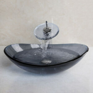 Image Is Loading Bathroom Silver Oval Basin Bowl Container Sink Mixer