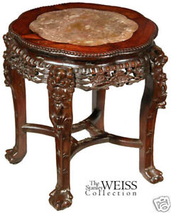 Chinese Side Table.Swc Large Export Chinese Side Table With Inset Marble Ebay