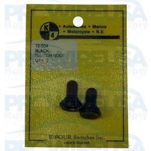 "K4 19-504 BlackToggle Switch Boot Cover 15/32""  2 Pcs Tuner Nascar Drag Racing"