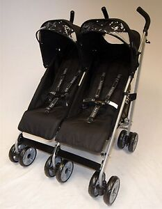 New-Babzee-Twin-Stroller-Buggy-Double-Pushchair-Including-Raincover