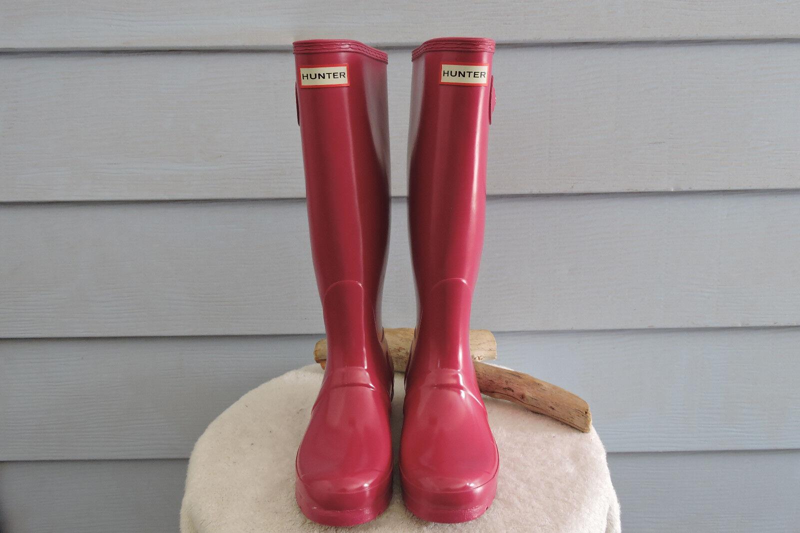 moda classica HUNTER Original Tall rosa Gloss donna's Rain stivali Dimensione Dimensione Dimensione 7  outlet