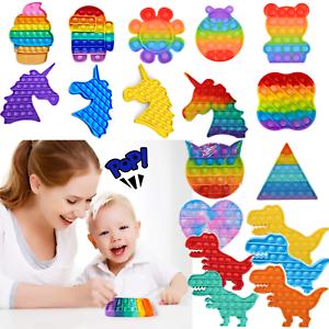 Push it Pop up Bubbles Fidget Blasen Drücken Spielzeug Toy Antistress Regenbogen