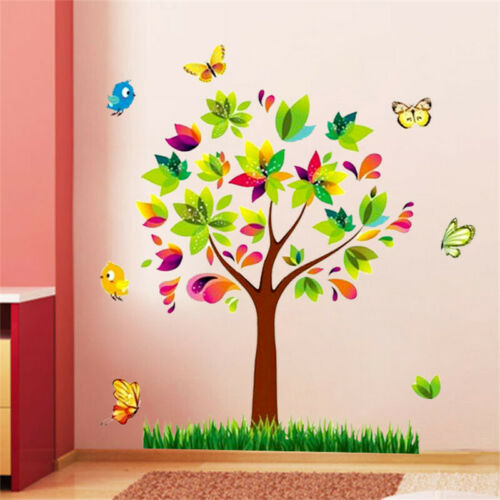 Tree Birds Mural Wall Sticker Home Decor Wall Decals For Kids Room Baby Nursery