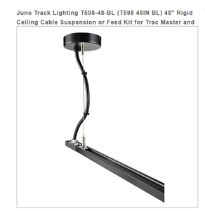Details About Juno Track Lighting T598 48 Bl 48in Feed Kit For Trac Master And