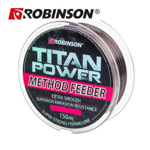 """150m /""""ROBINSON TITAN POWER METHOD FEEDER/"""" braune schnell sinkende Angelschnur"""