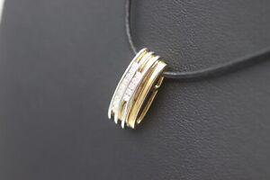 Prachtvoller-Anhaenger-aus-14K-585er-Gold-mit-14-Brillanten-0-25-ct-SI-W