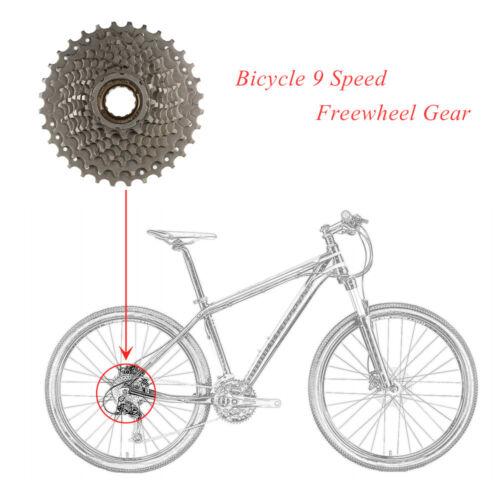 BICYCLE BIKE 9 SPEED FREEWHEEL GEAR SPROCKETS MOUNTAIN ROAD 13-32T Vintage