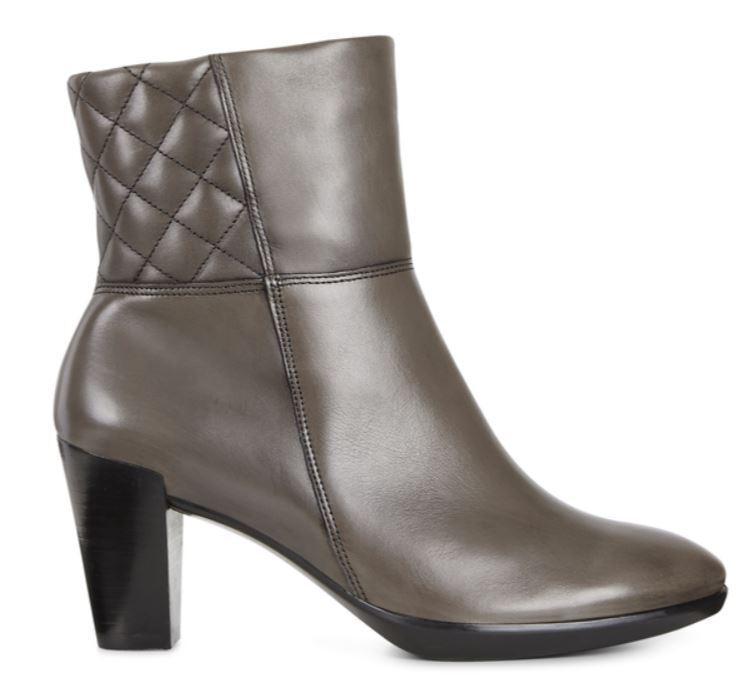 Ecco para mujer botas forma 55 Meseta Zip, piedra de Color, tamaño nos 9-9.5,
