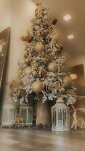 Albero Di Natale H 240.Dettagli Su Edg Albero Di Natale Pino Innevato H240 Cm Con 700 Led Con Base In Tronco