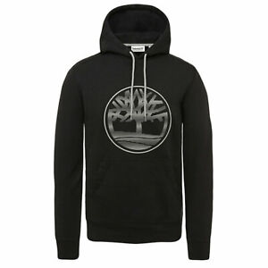 Details about TIMBERLAND A1O1D 001 OYSTER LOGO MEN'S BLACK FULL ZIP HOODIES