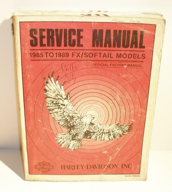 Official Factory Harley Davidson Service Manual 1985 To