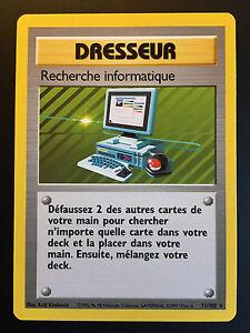 Carte-Pokemon-RECHERCHE-INFORMATIQUE-71-102-Rare-Set-de-Base-Wizard-FR-NEUF