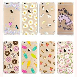 Ultra-Thin-Crystal-Clear-Pattern-Soft-TPU-Case-For-iPhone-5-6-7-8-X-Samsung