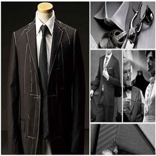 Linen Groom Wedding Men/'s Lake Blue Suits Best Man Tuxedos Formal Suits