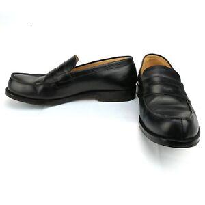 Heyraud-Paris-Black-Doillon-Loafers-Men-039-s-Leather-Shoe-Size-US-9-EU-42-MSRP-230