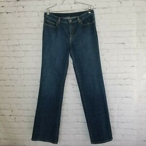 Elie-Tahari-Womens-Jeans-Size-12-Long-High-Rise-Dark-Wash-Stretch-32x34