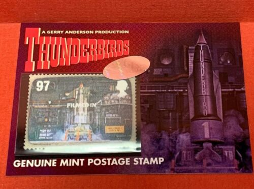 Unstoppable Thunderbirds Series 2 LENTICULAR POSTAGE STAMP 97p Card PS1 TB1