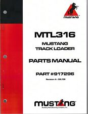 Mustang Omc Mtl316 Skid Steer Track Loader Parts Manual
