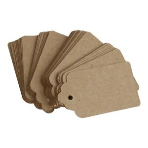 Pack-24-Rustic-40mmx70mm-Scalloped-Kraft-Paper-Card-Blank-Brown-Tag-Wedding-F6I8