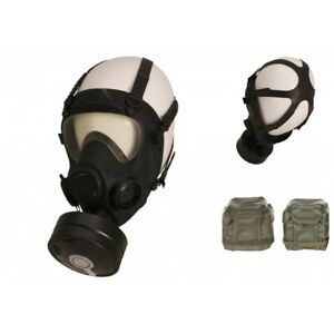 Pol-Schutzmaske-MP5-Filter-schwarz-Gasmaske-ABC-Schutz-Militaer-Atemschutz-Tasche