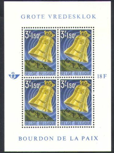 Belgium 1963 Peace Bell/Music/Bells/Culture/Fund/Animation 4v m/s (n37619)