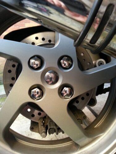 Honda VFR800fi Dressing kit Rear wheel /& swing arm Chrome caps /& nut covers 2000