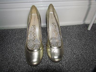 Silver Leather Tribunal Zapatos Talla 6/39 por Dolcis