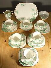 Samuel Radford Art Deco Green Blossom Tea Set 7128