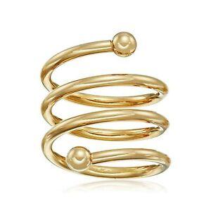 Adjustable Spiral Ring in 14K Gold-Bonded Sterling Silver