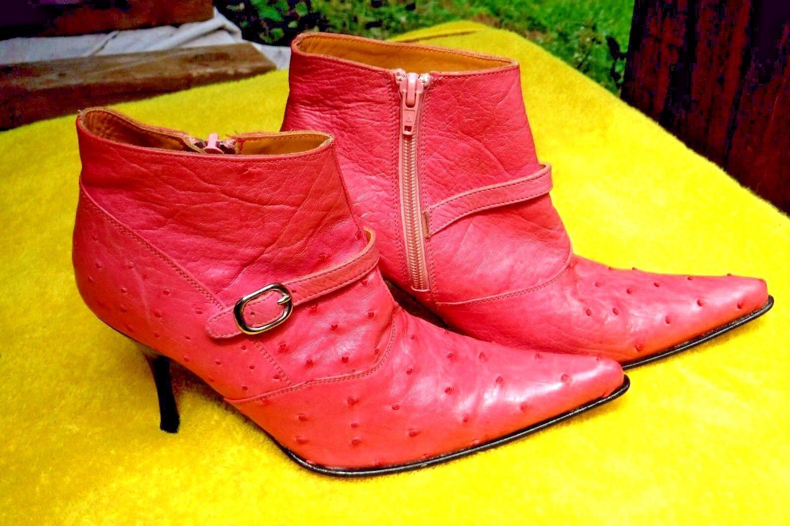 sconto online di vendita PRE-OWNED(CUSTOM MADE)nero JACK FULL FULL FULL QUILL OSTRICH ANKLE stivali, SZ.6.5B donna  acquista online