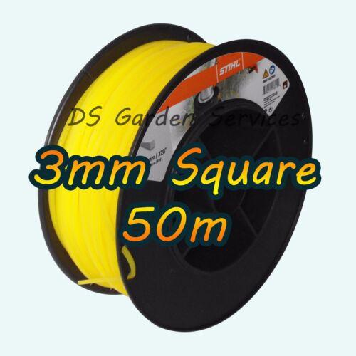 50m di Genuine Stihl 3mm SQUARE Decespugliatore Decespugliatore Tagliabordi Cavo Filo di linea