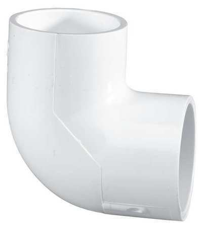 "1//2/"" Socket PVC 90 Degree Elbow Sched 40 LASCO 406005BC"