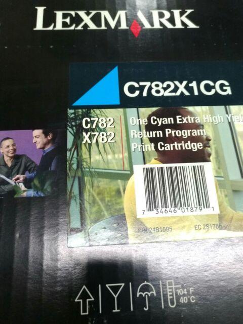 originale Lexmark Cartuccia d'inchiostro C782X1CG blu