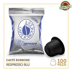 100 Cialde Capsule Caffè Borbone Respresso Miscela Blu e compatibile Nespresso