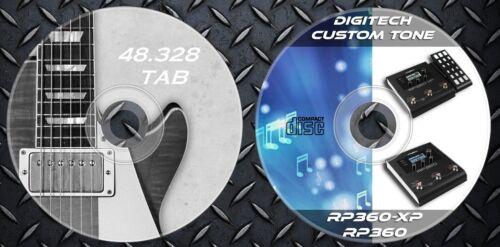 48.000 Gitarre Noten Tab 300 Patches Digitech RP-360 RP-360XP.Effects Processor