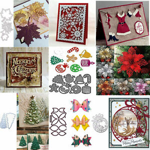 Christmas 3 pcs//set Greetings Frame Metal Cutting Dies Scrapbooking DIY Crafts
