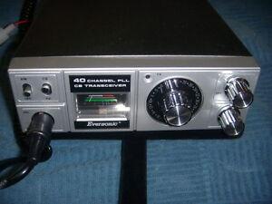 VINTAGE EVERSONIC 40 CH MODEL 407 CB TRANSCEIVER REFURBISHED