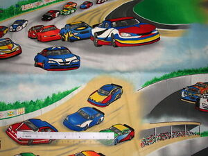Choose-design-Race-Cars-Flags-checks-cotton-quilting-fabric-size