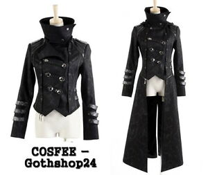 gothic punk rave herren jacke mantel schwarz steampunk steampunk kapuze jacket ebay. Black Bedroom Furniture Sets. Home Design Ideas