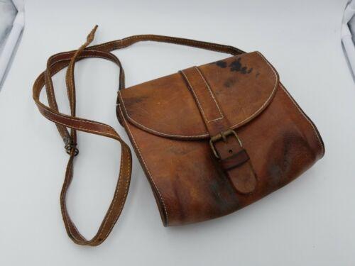 Vintage Leather Crossbody Messenger Bag Women Satc