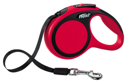 Flexi XS New COMFORT Tape Dog Leash Lead soft grip short-stroke braking system