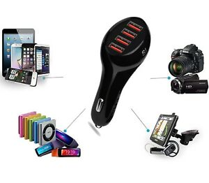 4-Port-Fast-Car-Charger-Cigarette-Lighter-USB-Adaptor-12-24V-Power-Socket