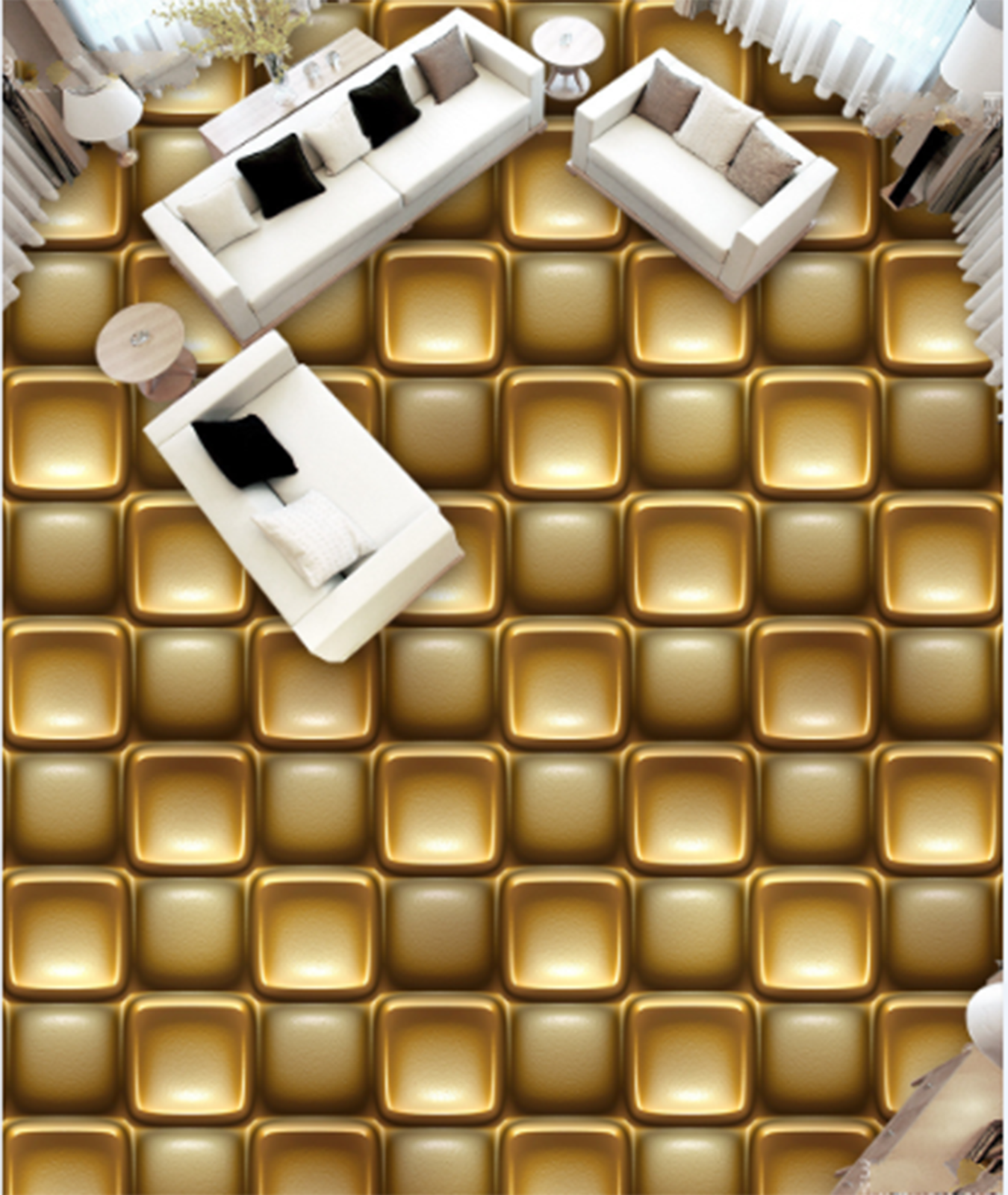 3D Gold Gitter 557 Fototapeten Wandbild Fototapete Tapete Familie DE Lemon