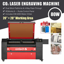 Omtech 80w 20x28 Co2 Laser Engraving Cutting Machine With Cw5200 Water Chiller