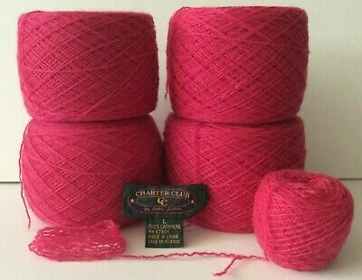Pea Green 100/% Cashmere Recycled Yarn 939 yards 3-ply