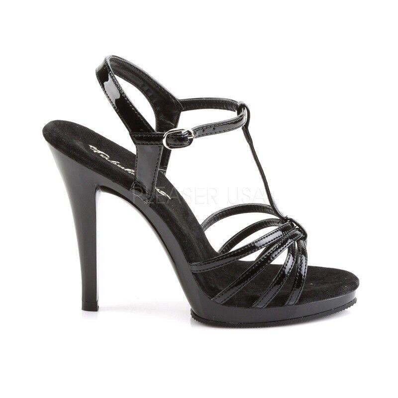Fabulicious 420 Flair - 420 Fabulicious mini-sandalias de plataforma negro charol noche zapato poledance bf8c56