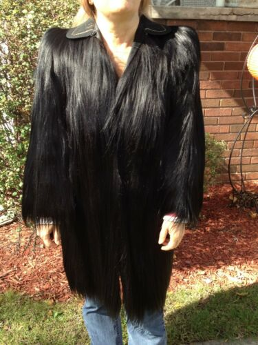 Vintage 30s 40s MONKEY Africa Genuine Fur Long Coa