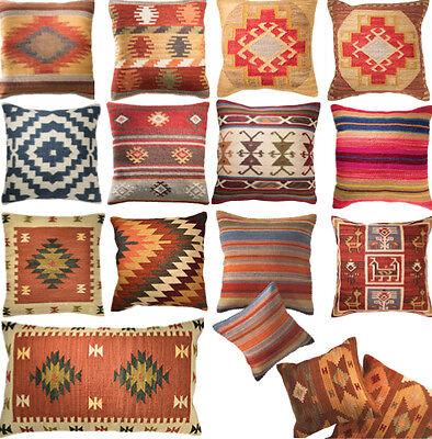 Kilim Cushion Cover Handwoven Wool Cotton 5 Sizes 13 Designs SOFA HOME DECOR F&F